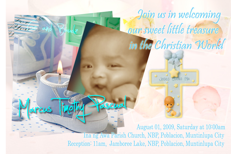 Invitation for Christening layout