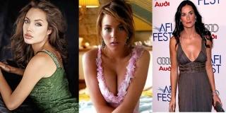 Angelina Jolie, Demi Moore, Lindsay Lohan