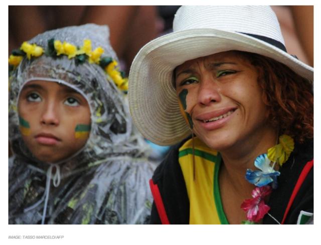 Brazil fan cry