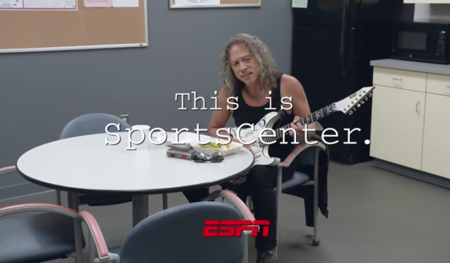 SportsCenter Commercial by Metallica band