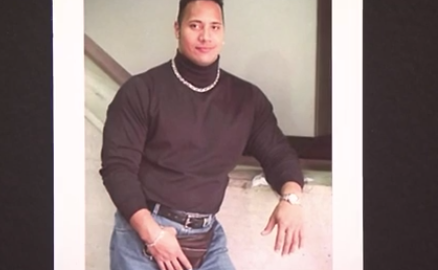 Dwayne 'The Rock' Johnson discusses his throw back photo, its hilarious