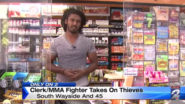 MMA fighters beats robbers Southwayside