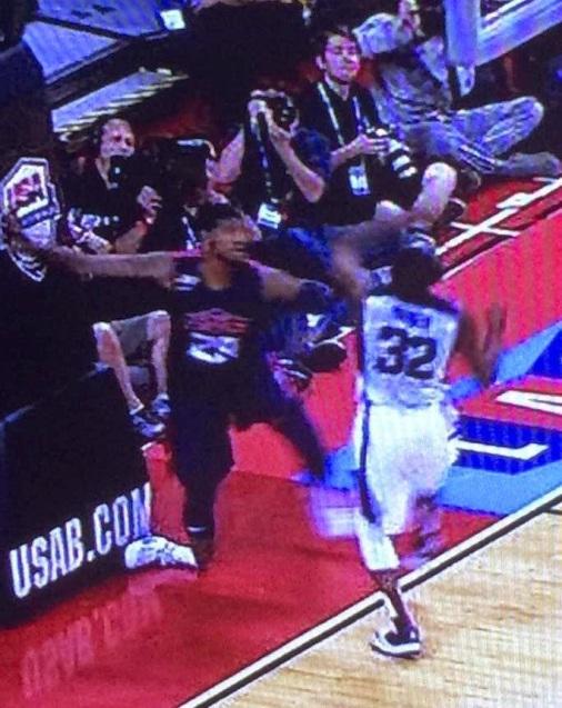 Video of Paul George injury in Team USA Scrimmage in Las Vegas