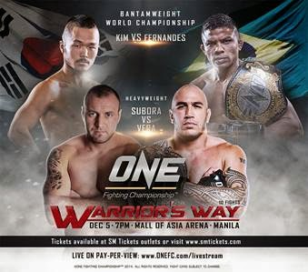 ONE FC: WARRIOR'S WAY ADDS FOUR NEW EXCITING BOUTS INCLUDING PINOY FIGHTERS LIKE BRANDON VERA, KEVIN BELINGON AND  HONORIO BANARIO