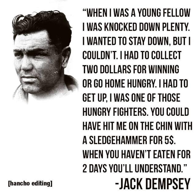Sports Quotes:  Boxer Jack Dempsey