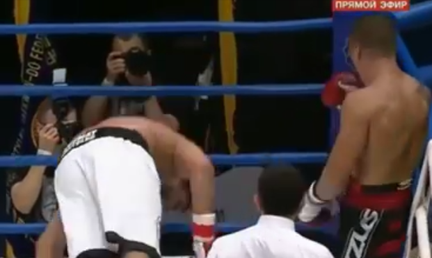Video Horrific knockout, drop face first!