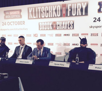 Tyson Fury is batman: boxing promotion next level up! too funny