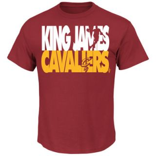 LeBron James Cleveland Cavaliers Majestic Player Voltage T-Shirt - Wine $21.99