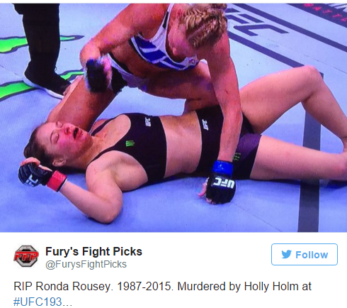 Holly Holm dominated Rousey!