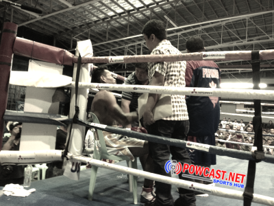Adones Cabalquinto, moments after being knockout by Al Rivera