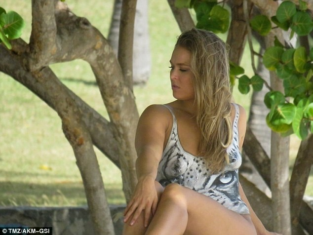 Woah! Ronda Rousey will knock you out with this almost Nude photos
