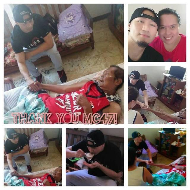 Ginebra Mark Caguioa Grants Wish of Dying Fan