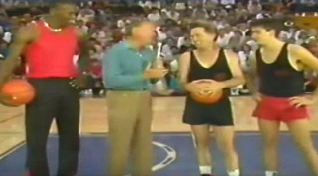Rare Footage of Michael Jordan vs the Sheen's