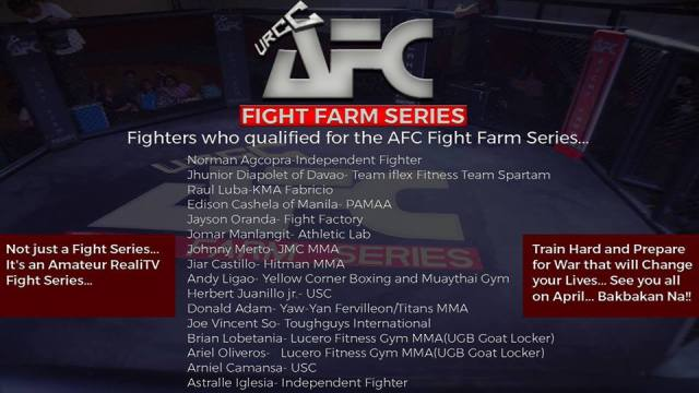Future MMA Stars Who Qualified for the Highly Anticipated AFC Fight Farm Series.