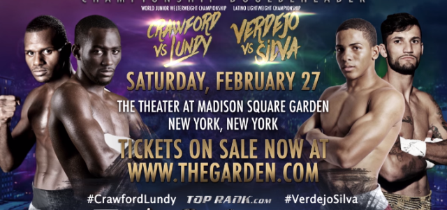 Championship Doubleheader Featuring Crawford & Verdejo Promo