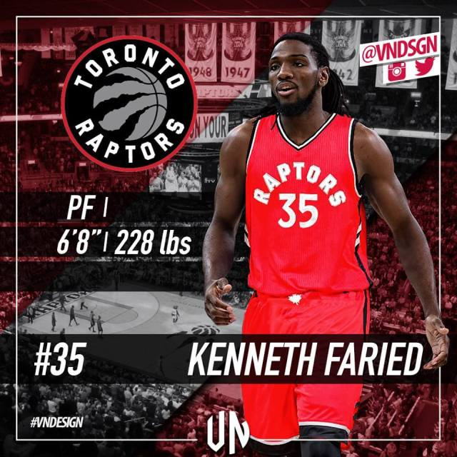 Photo of the Day: Keneth Faried Toronto Jersey
