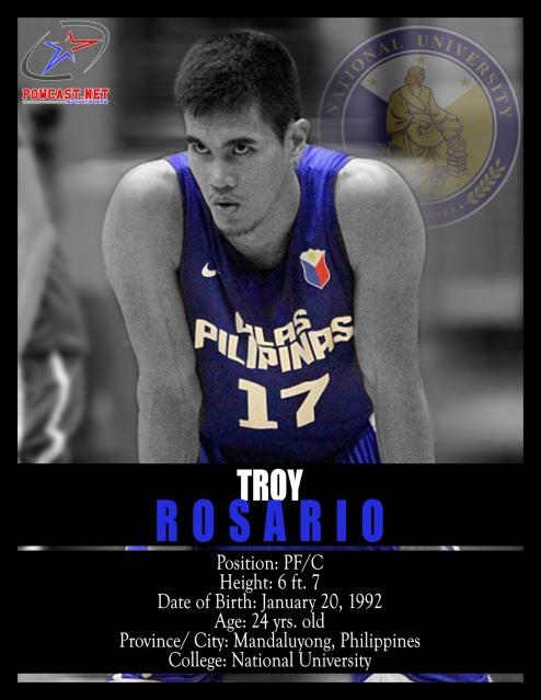 Troy Rosario Gilas Pilipinas