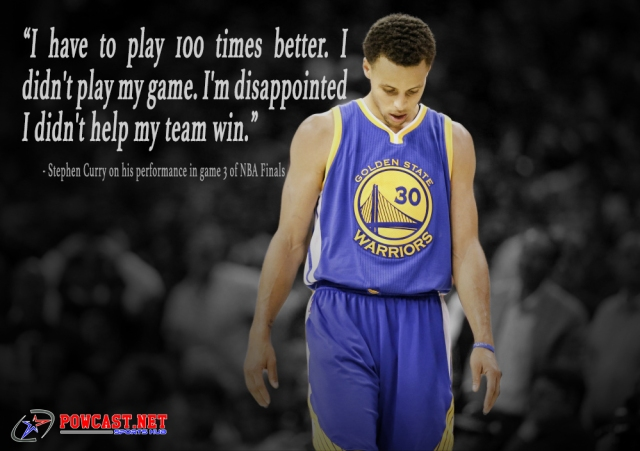 Stephen Curry on 2016 NBA Finals game 3 performance