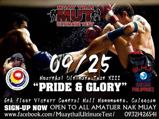 The Muaythai Ultimate Test XIII will be on Sept 25