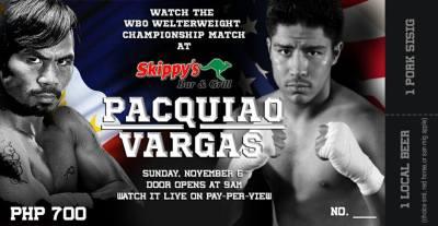 Pacquiao vs Vargas on Skippys