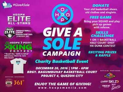 "HoopX Manila ""Give A Sole"" Charity Event"