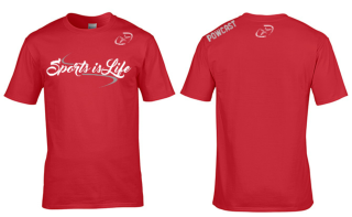 Powcast Sports is Life - Red