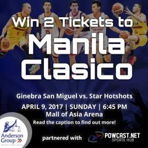 Win 2 Tickets to Manila Clasico: Ginebra vs Star on April 9, 2017, MOA