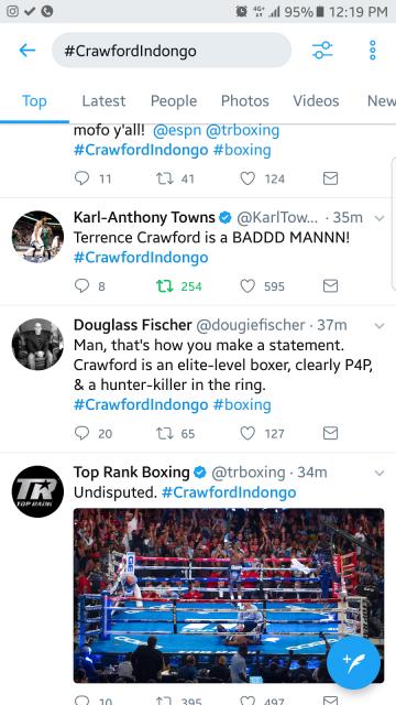 KAT reacts on Twitter