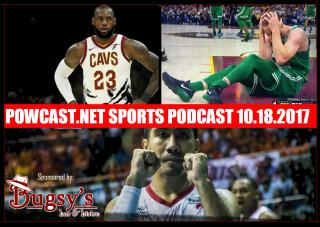 Powcast.net Sports Podacast 10.18.27: Haywards Injury, Celveland Cavaliers and the NBA