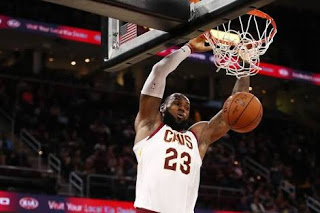 LeBron James performing a monster jam