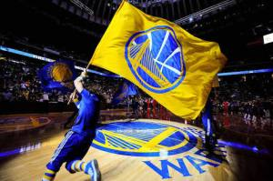 The Golden State Warriors Flag