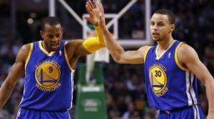 Andre Iguodala and Stephen Curry