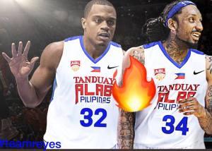 Justin Brownlee and Renaldo Balkman  Alab Pilipinas